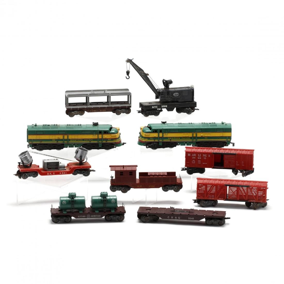 Group of Vintage Post War Toy Trains