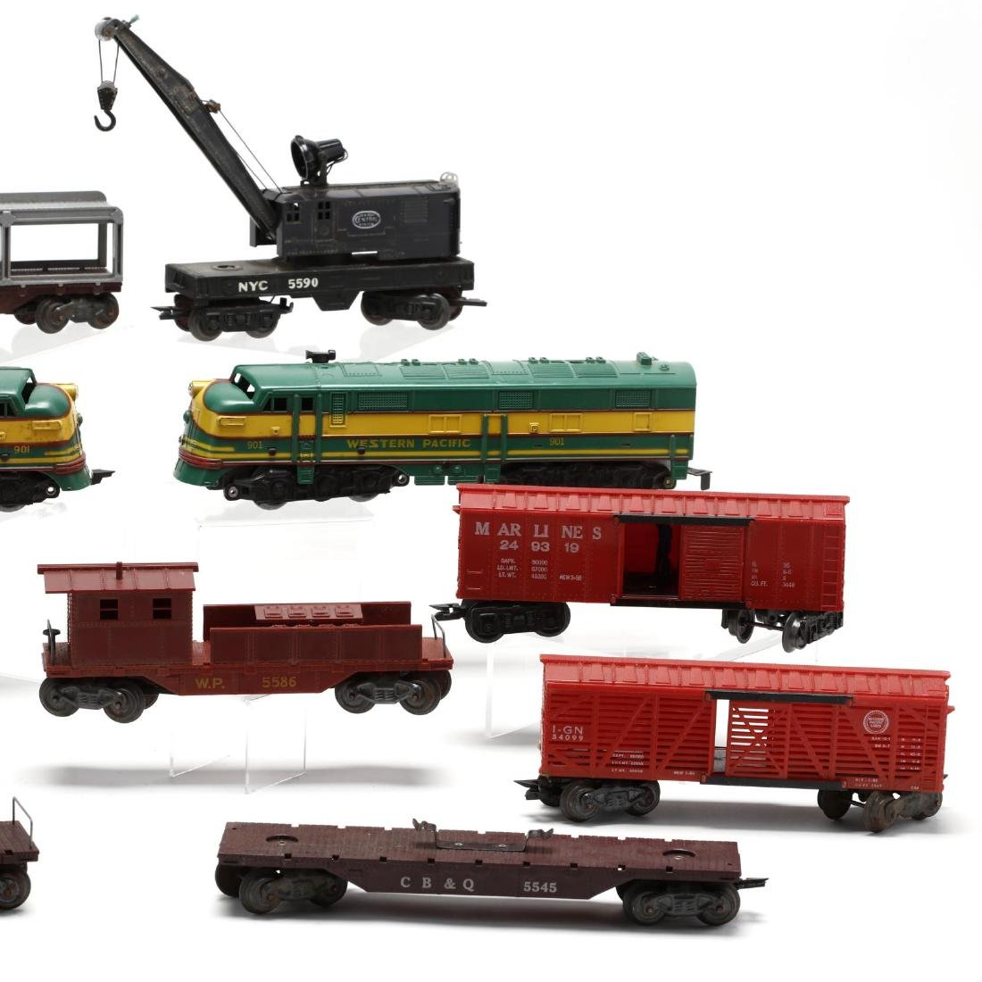 Group of Vintage Post War Toy Trains - 3