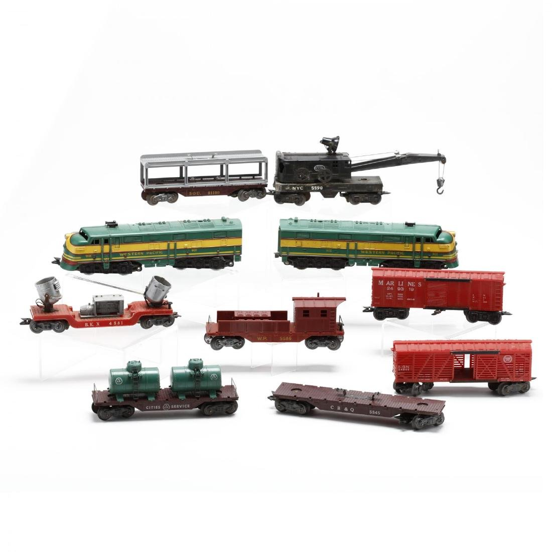 Group of Vintage Post War Toy Trains - 8