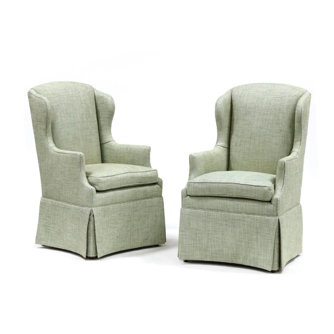 Pair of Chippendale Style Fireside Chairs