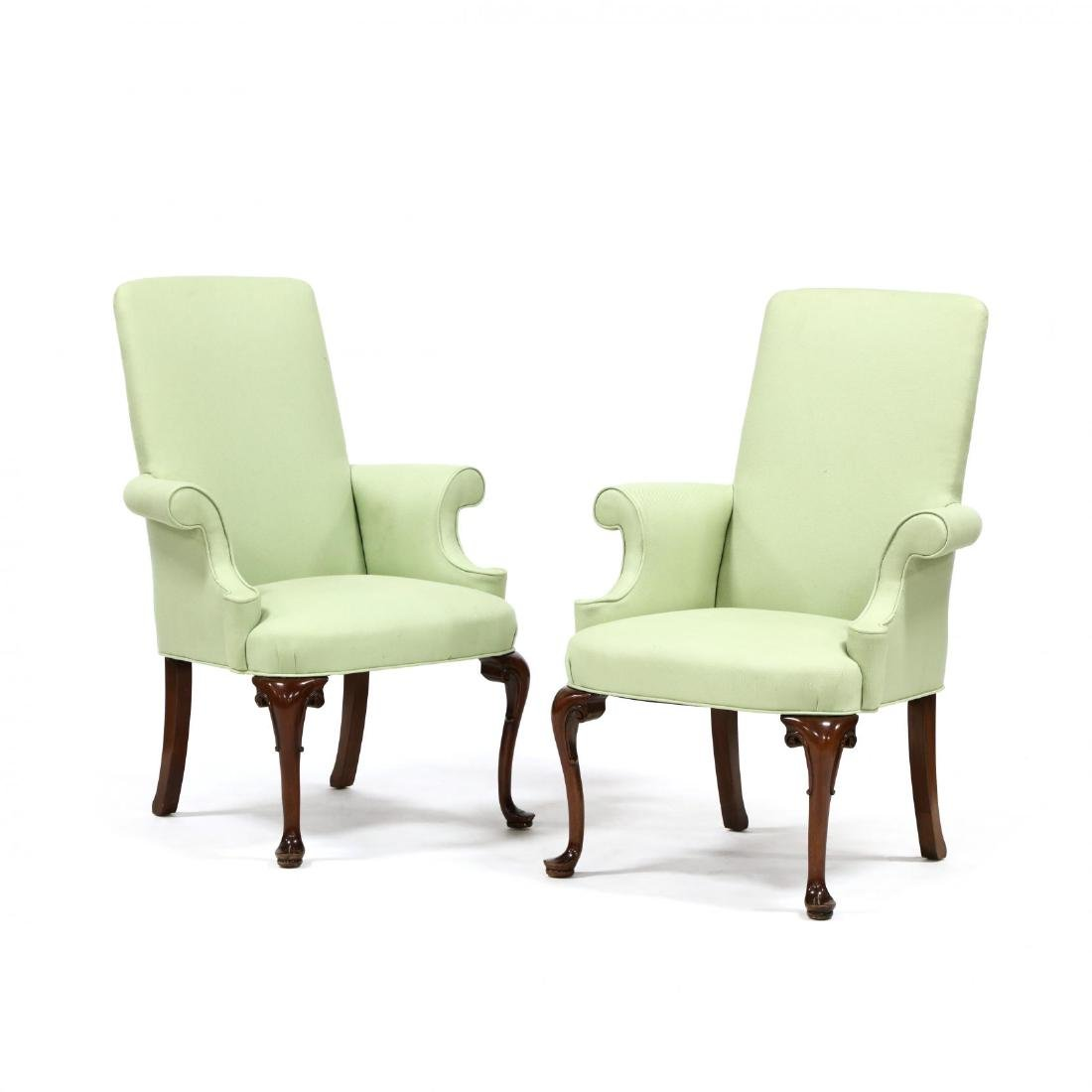Pair of Queen Anne Style Lolling Chairs