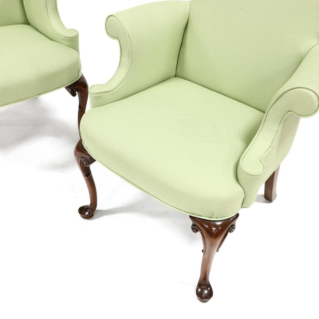 Pair of Queen Anne Style Lolling Chairs - 2