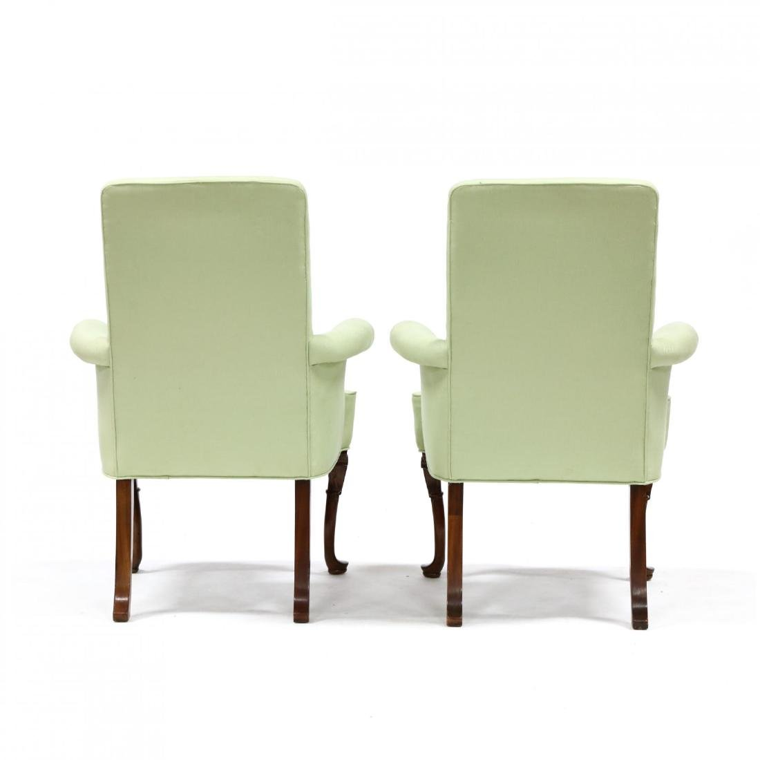Pair of Queen Anne Style Lolling Chairs - 3