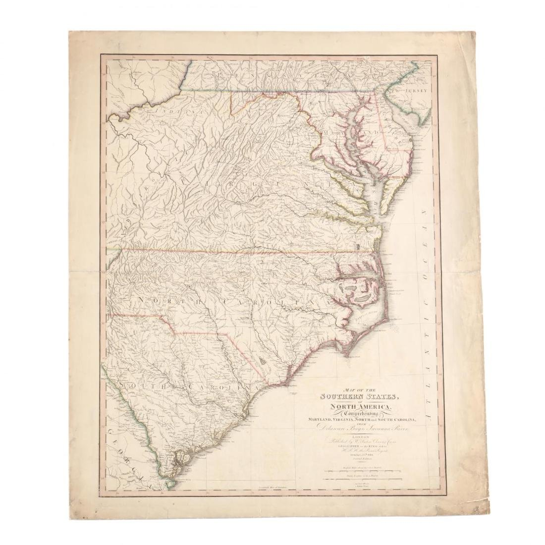 Faden, William.  Map of the Southern States, of North