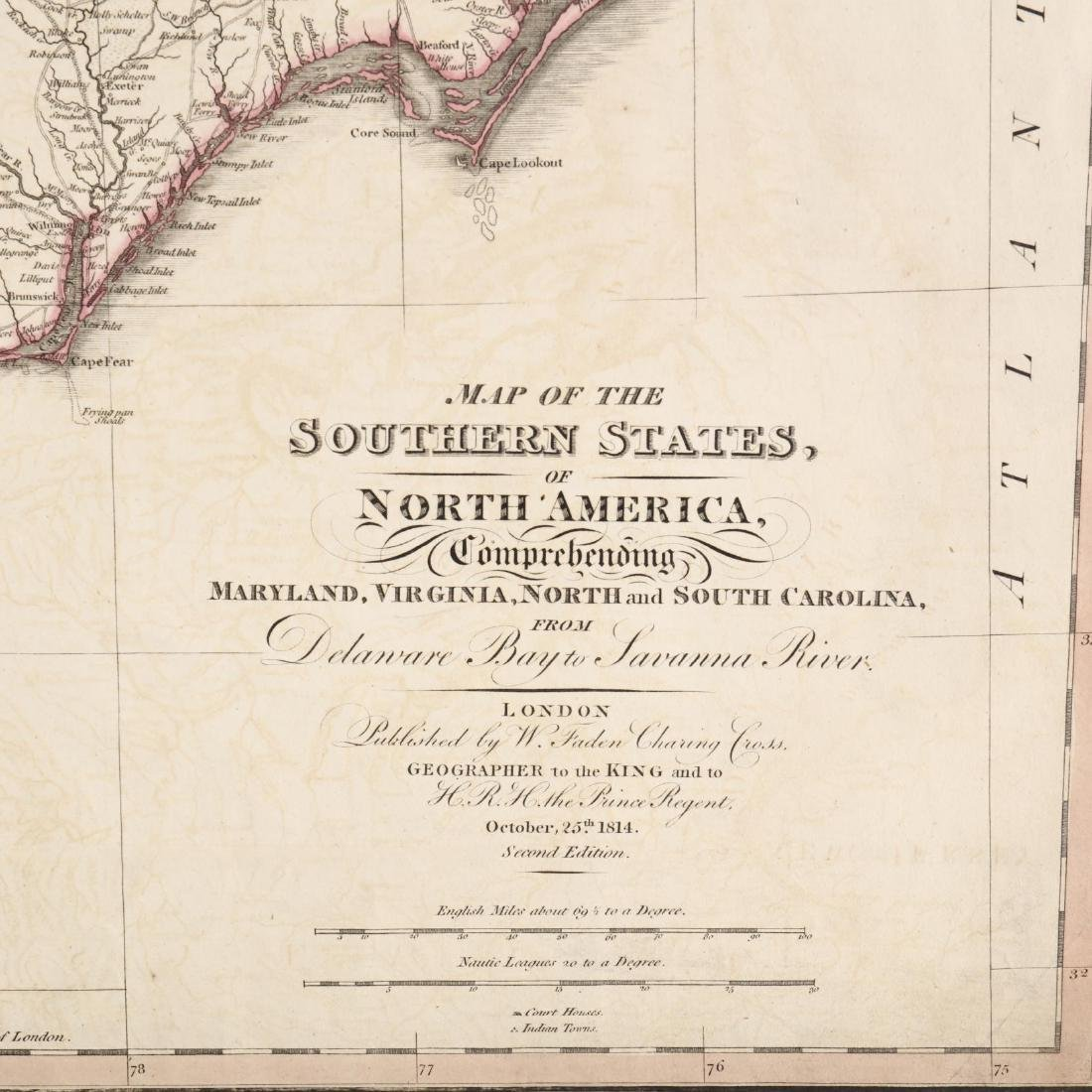 Faden, William.  Map of the Southern States, of North - 2