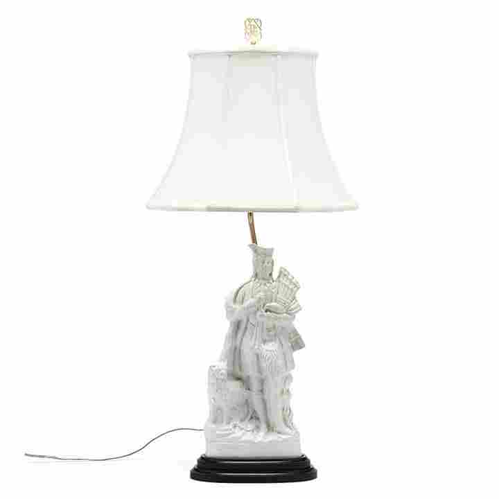 Staffordshire Figural Table Lamp