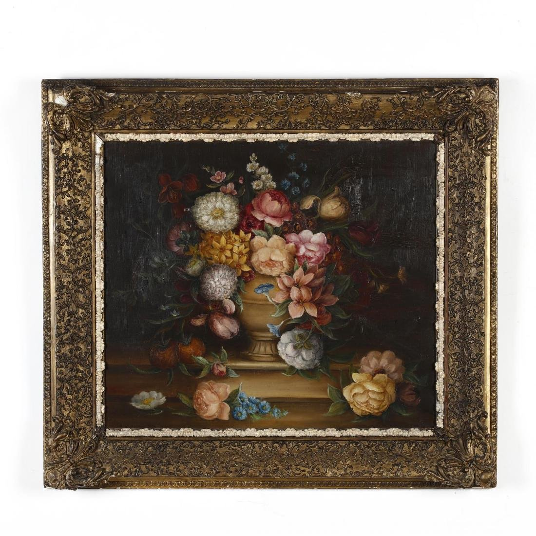 An Antique Continental School Still Life with Flowers