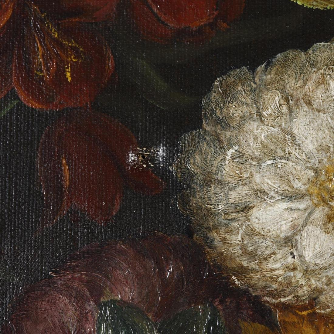 An Antique Continental School Still Life with Flowers - 2