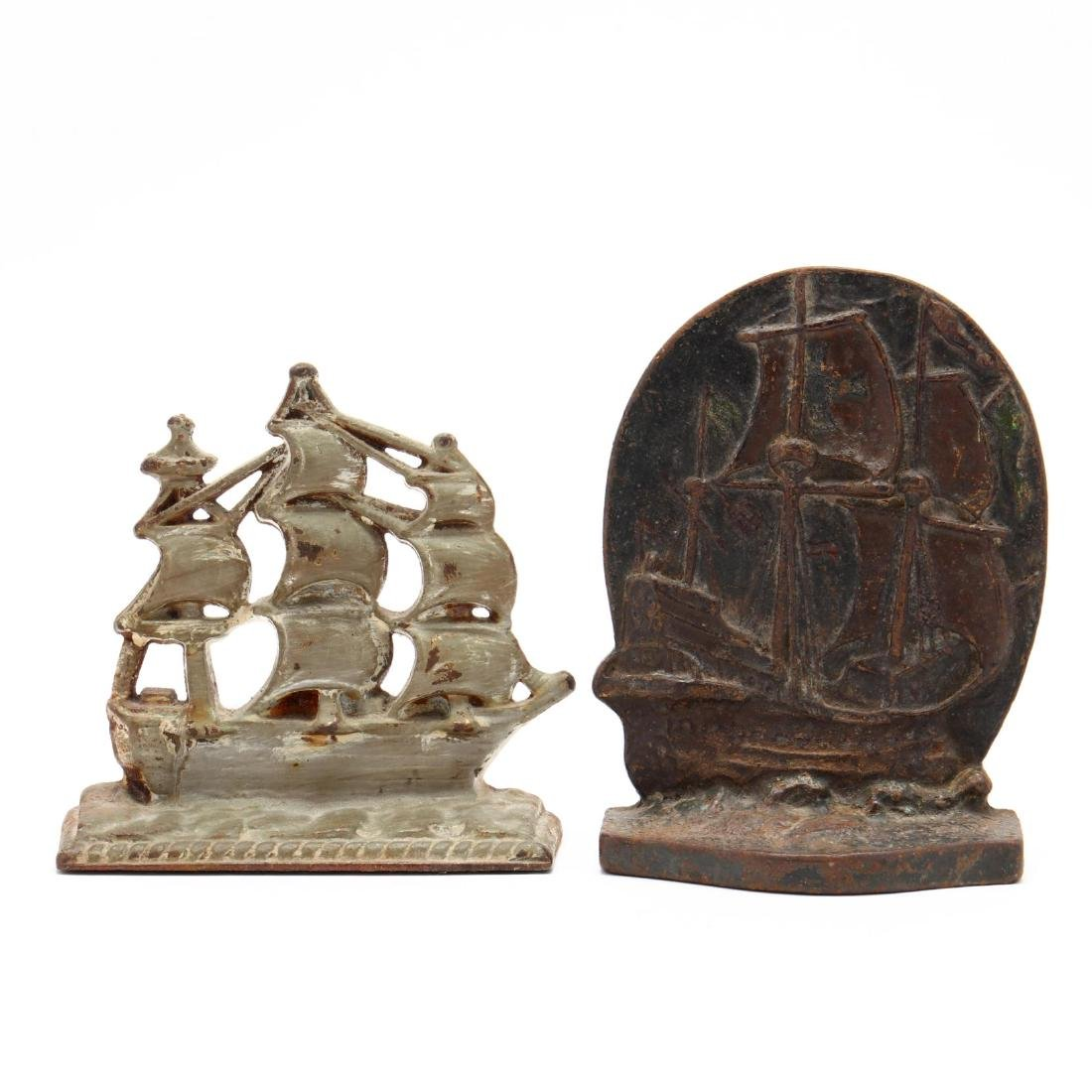 Vintage Clipper Ship Door Stop and Bookends - 4