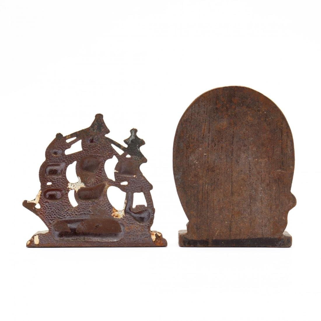 Vintage Clipper Ship Door Stop and Bookends - 5