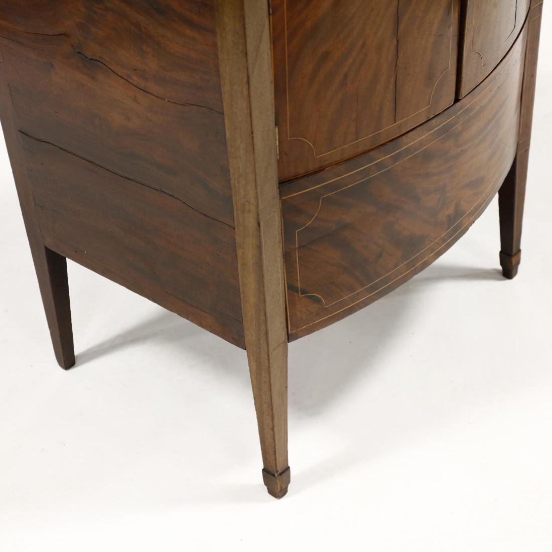 George III Inlaid Mahogany Bow Front Side Cabinet - 4