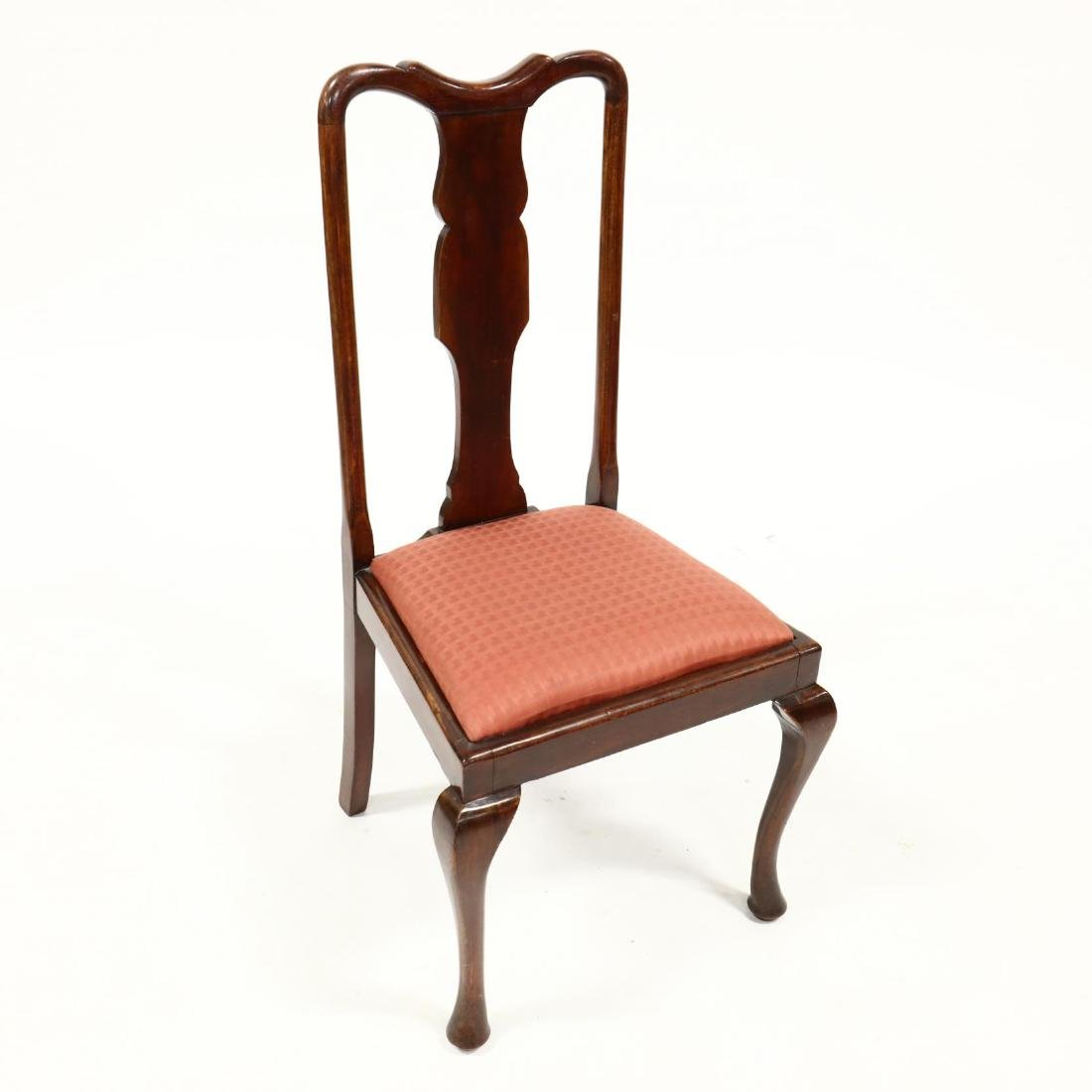 Set of Four Queen Anne Style Dining Chairs - 3