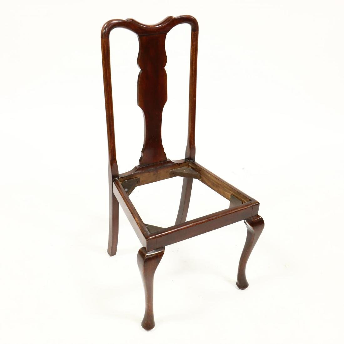 Set of Four Queen Anne Style Dining Chairs - 4