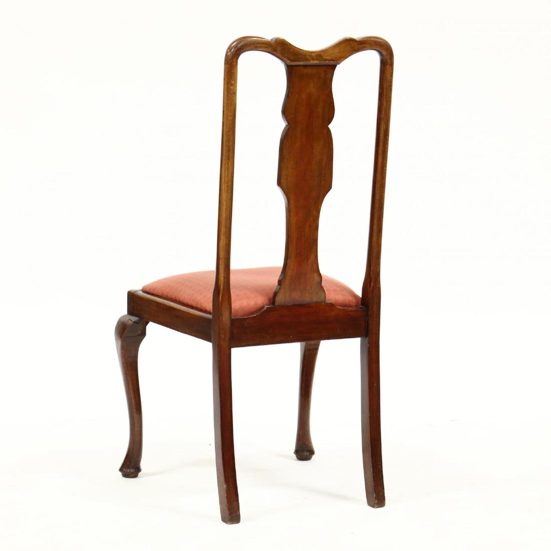 Set of Four Queen Anne Style Dining Chairs - 5