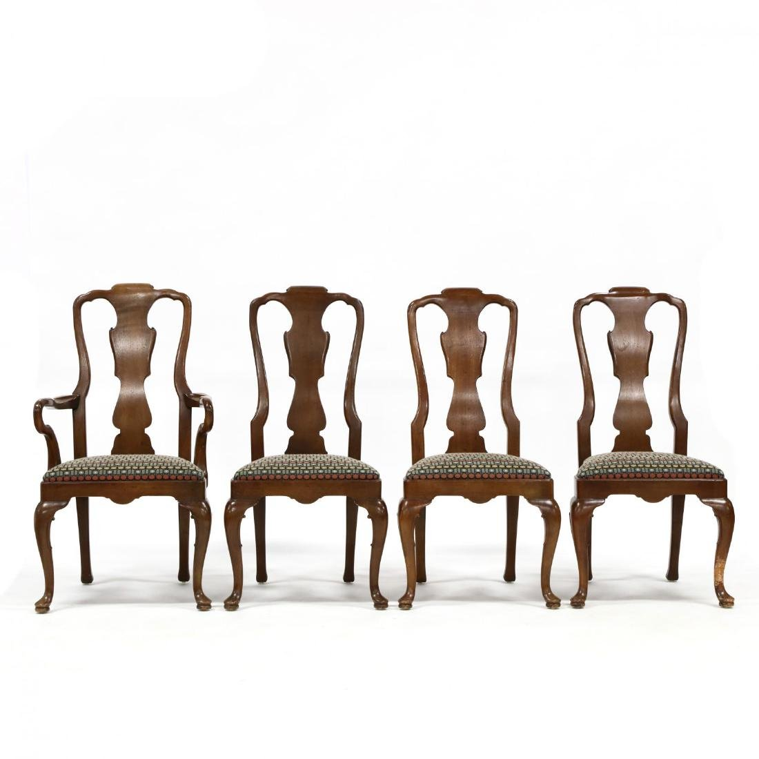 Henredon, Set of Eight Queen Anne Style Dining Chairs - 2