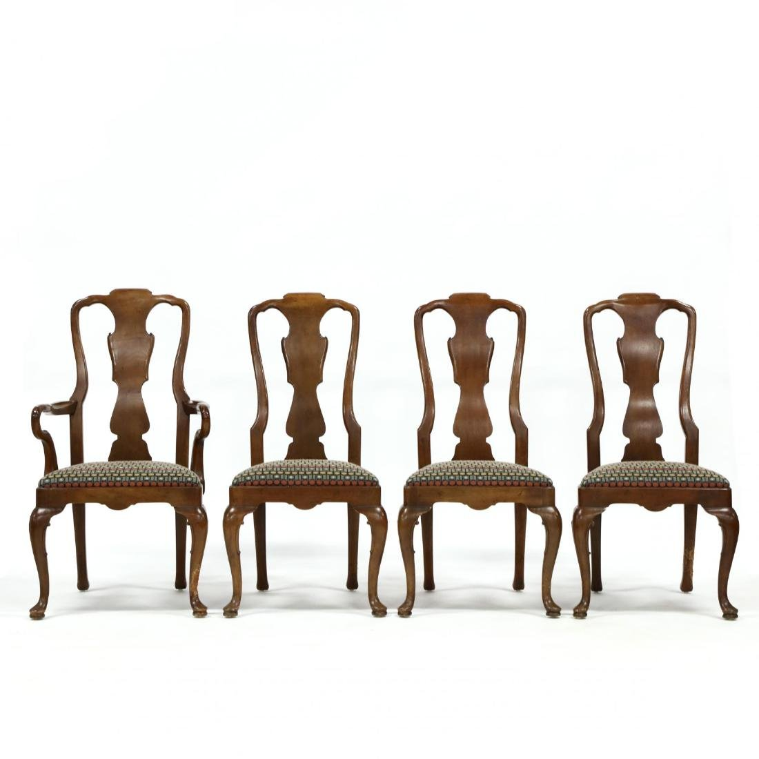 Henredon, Set of Eight Queen Anne Style Dining Chairs - 3