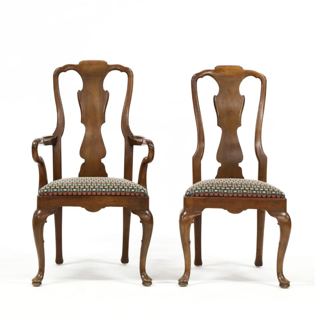 Henredon, Set of Eight Queen Anne Style Dining Chairs - 4