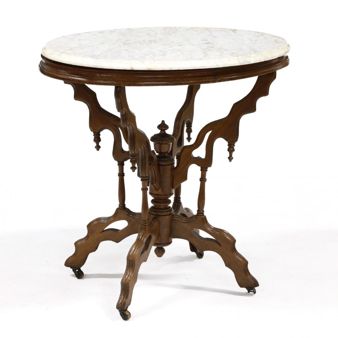 Victorian Marble Top Parlor Table - 4