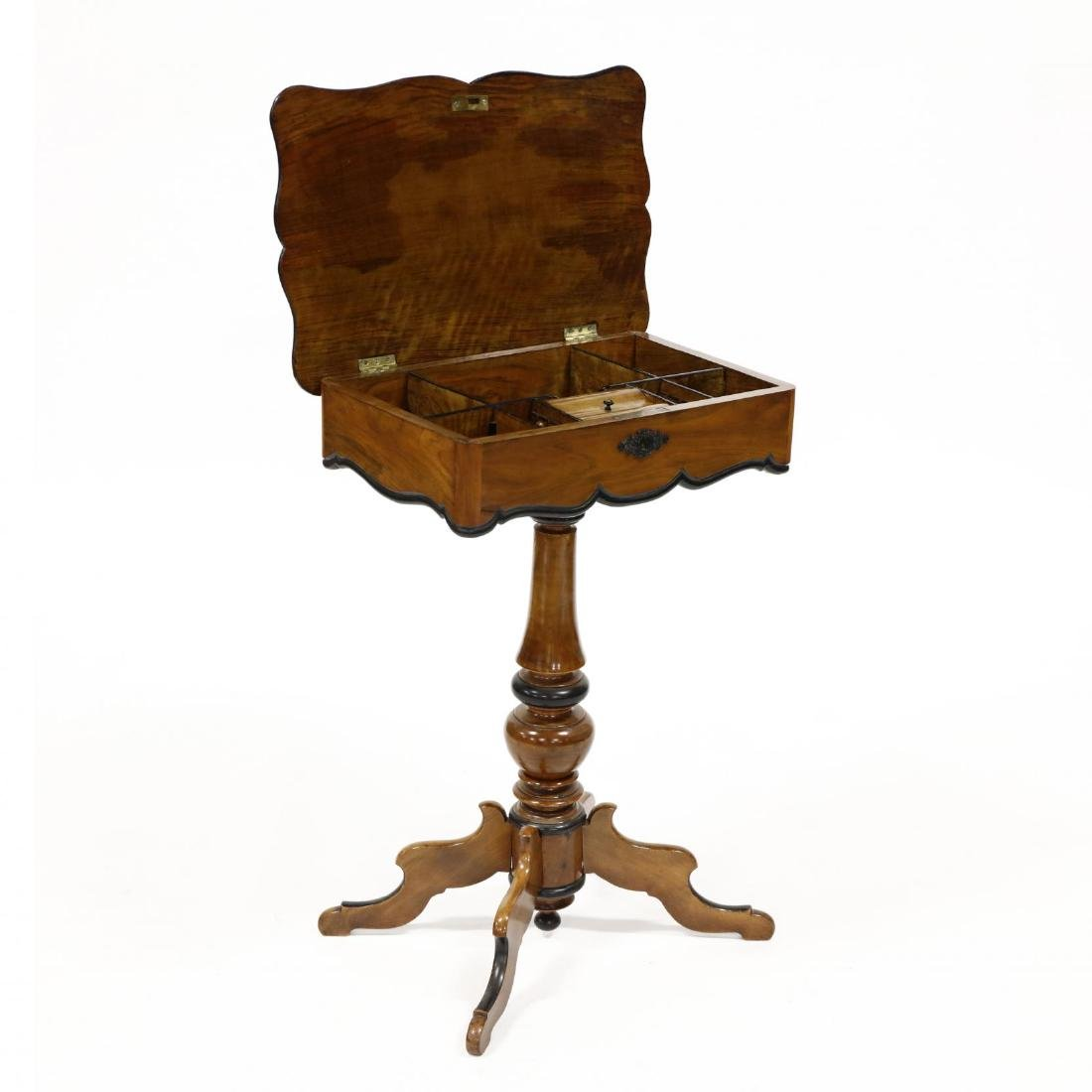 Antique English Walnut Sewing Stand
