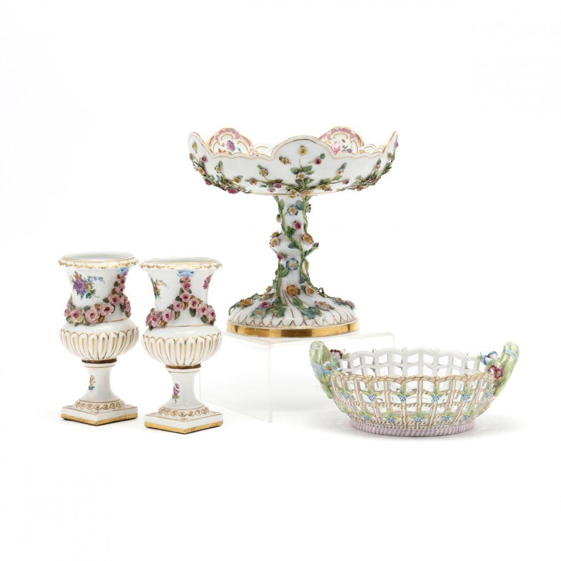 An Antique Porcelain Grouping