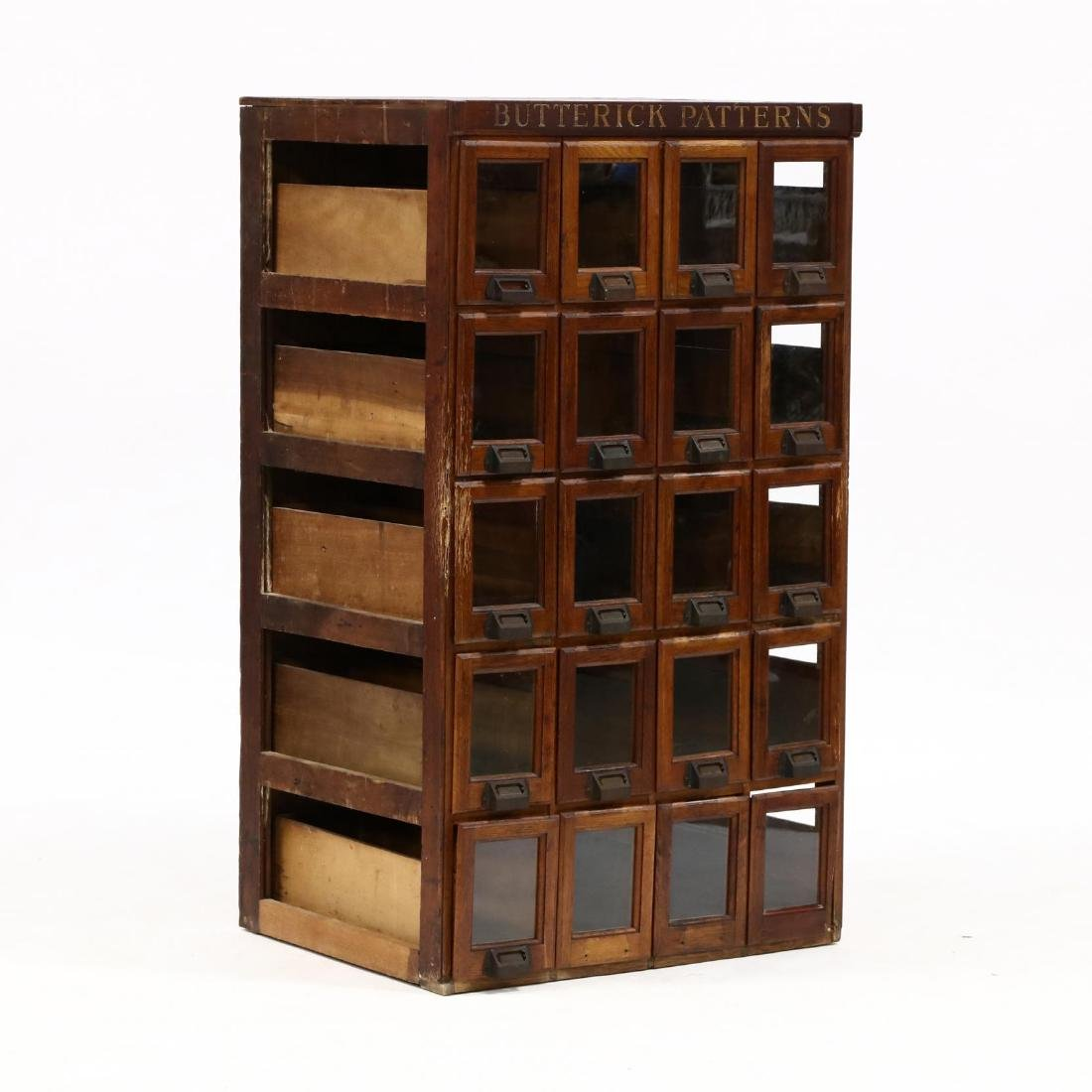 "Vunate Oak ""Butterick Pattern"" Country Store Cabinet"