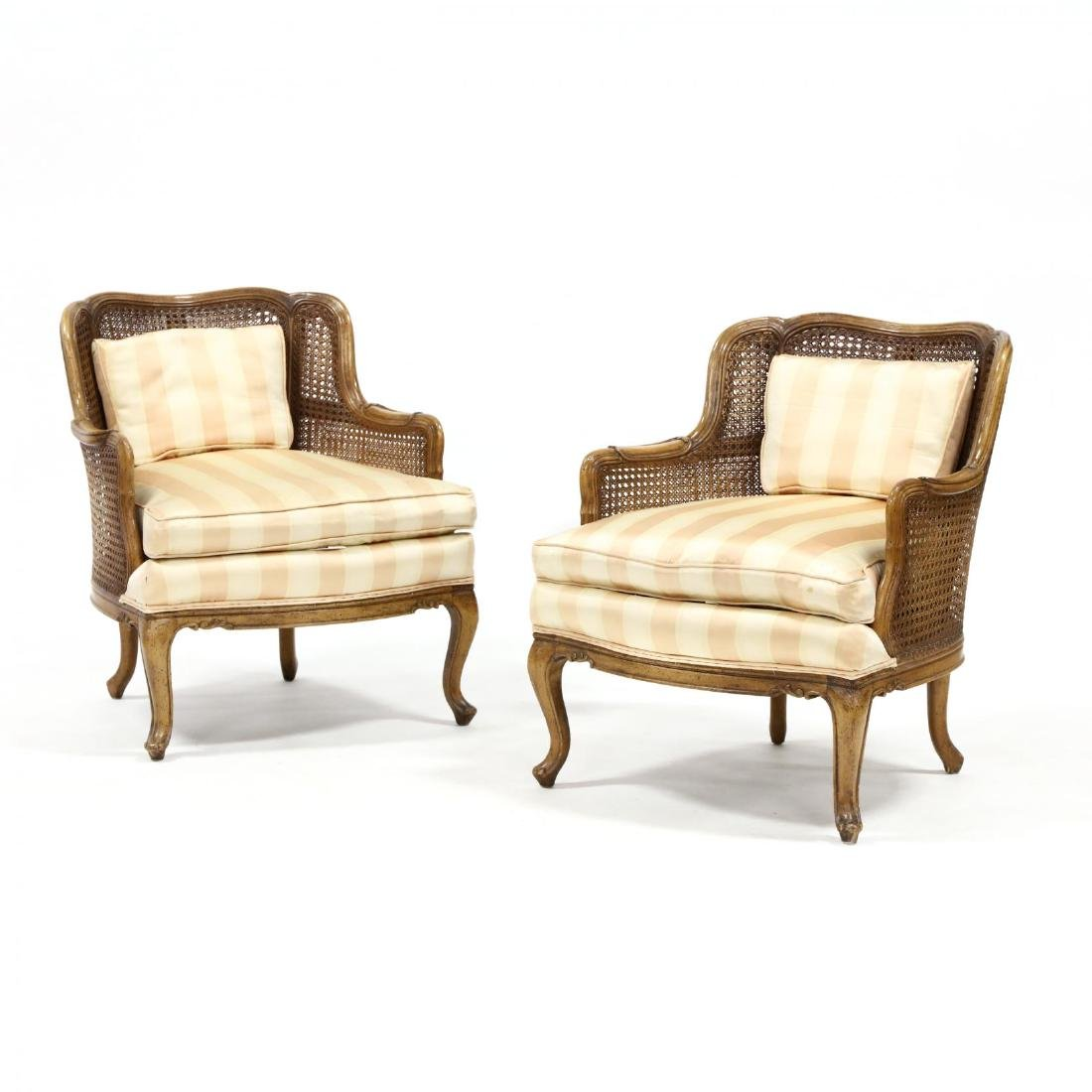 Jamestown Lounge Co., Pair of Louis XV Style Bergere