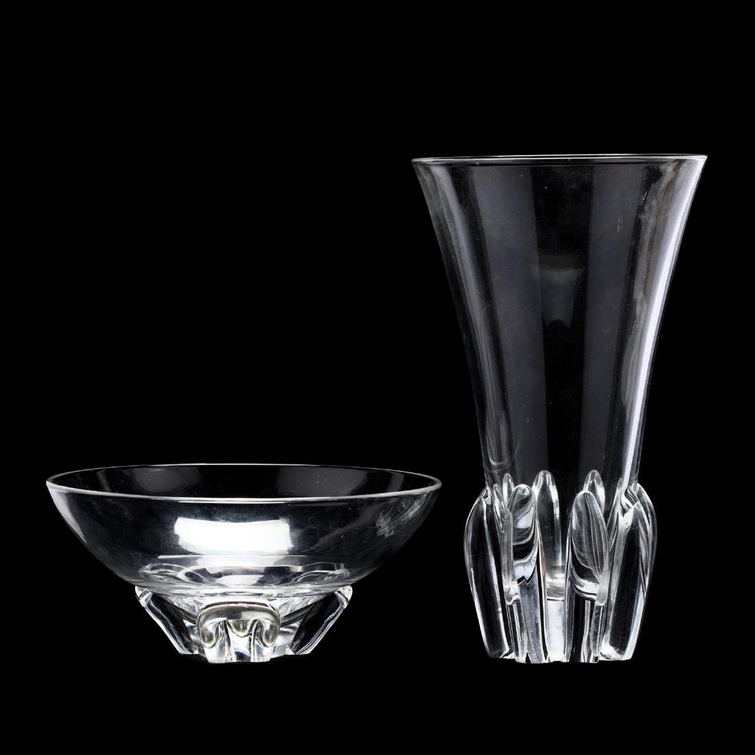 Two Pieces of Modern Steuben Art Glass
