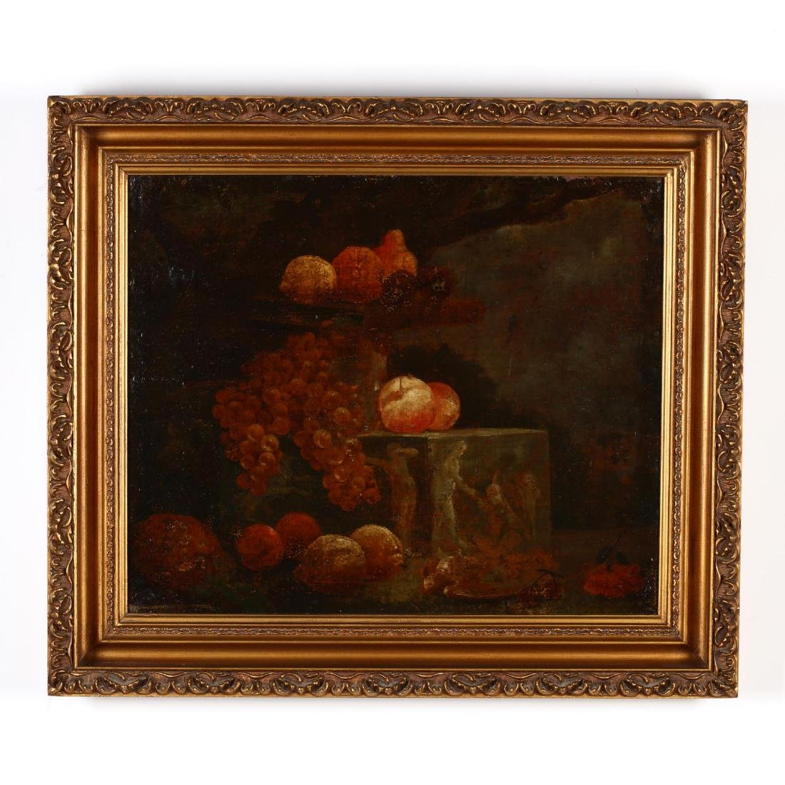An Antique Continental School Still Life with Fruit