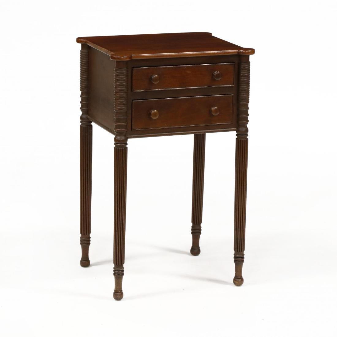 Federal Style Two Drawer Side Table