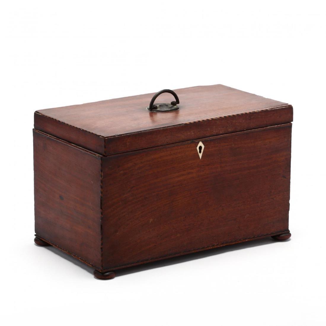 An Antique English Mahogany Valuables Box