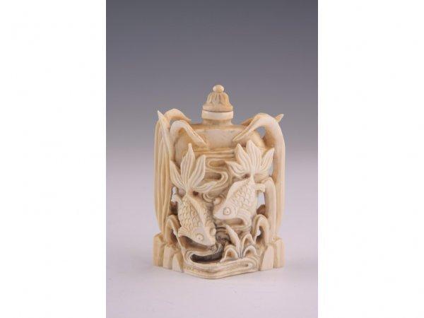 1: Ivory Snuff Bottle, Mid-Century,