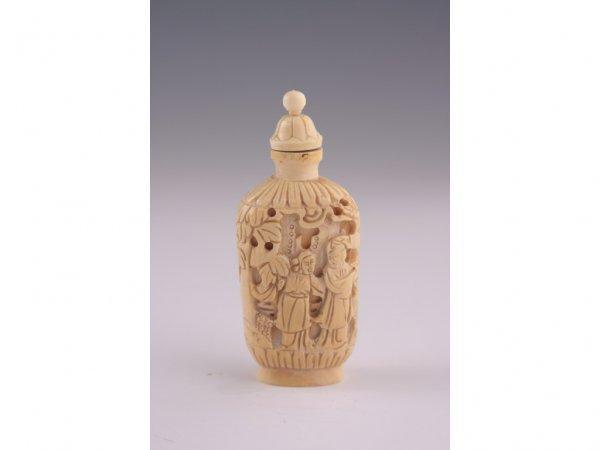 2: Ivory Snuff Bottle, Mid-Century,