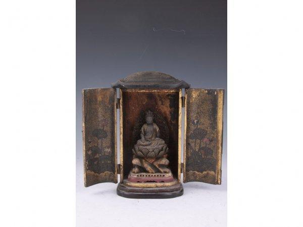 14: Antique Japanese Zushi Buddha Shrine, ca. 19th c.