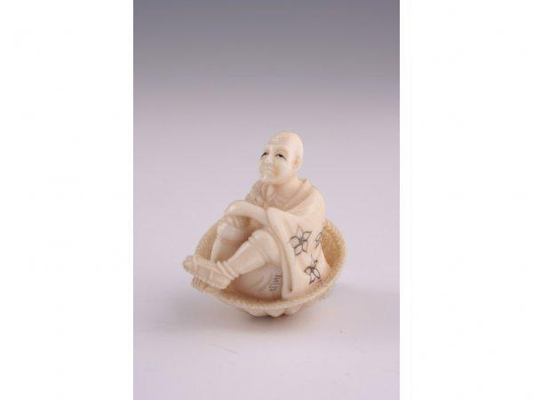 23: Netsuke Carved Ivory,