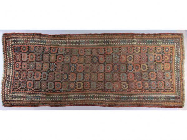 262: Oriental Semi-Antique Kurdish Rug,