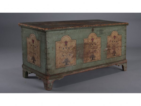 375: Paint Decorated Blanket Chest, Early 19th c.