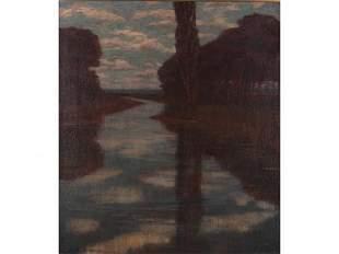 408: Alexander Harrison (CA/NY, 1853-1930), The River,