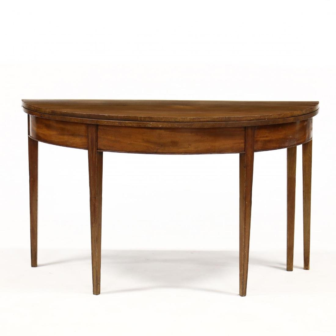 Virginia Federal Mahogany Demilune Console Table