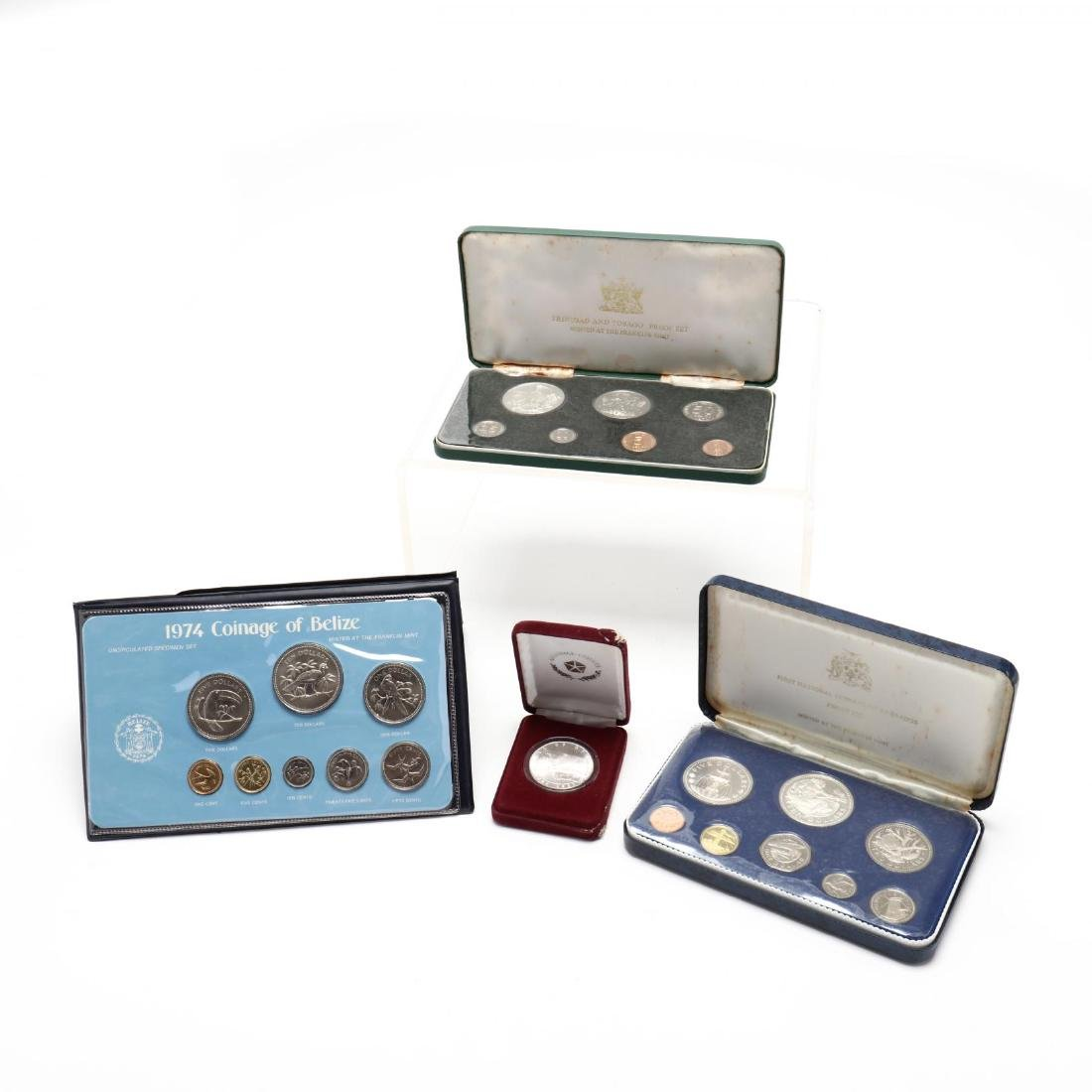 Three Franklin Mint Sets and a Silver Round