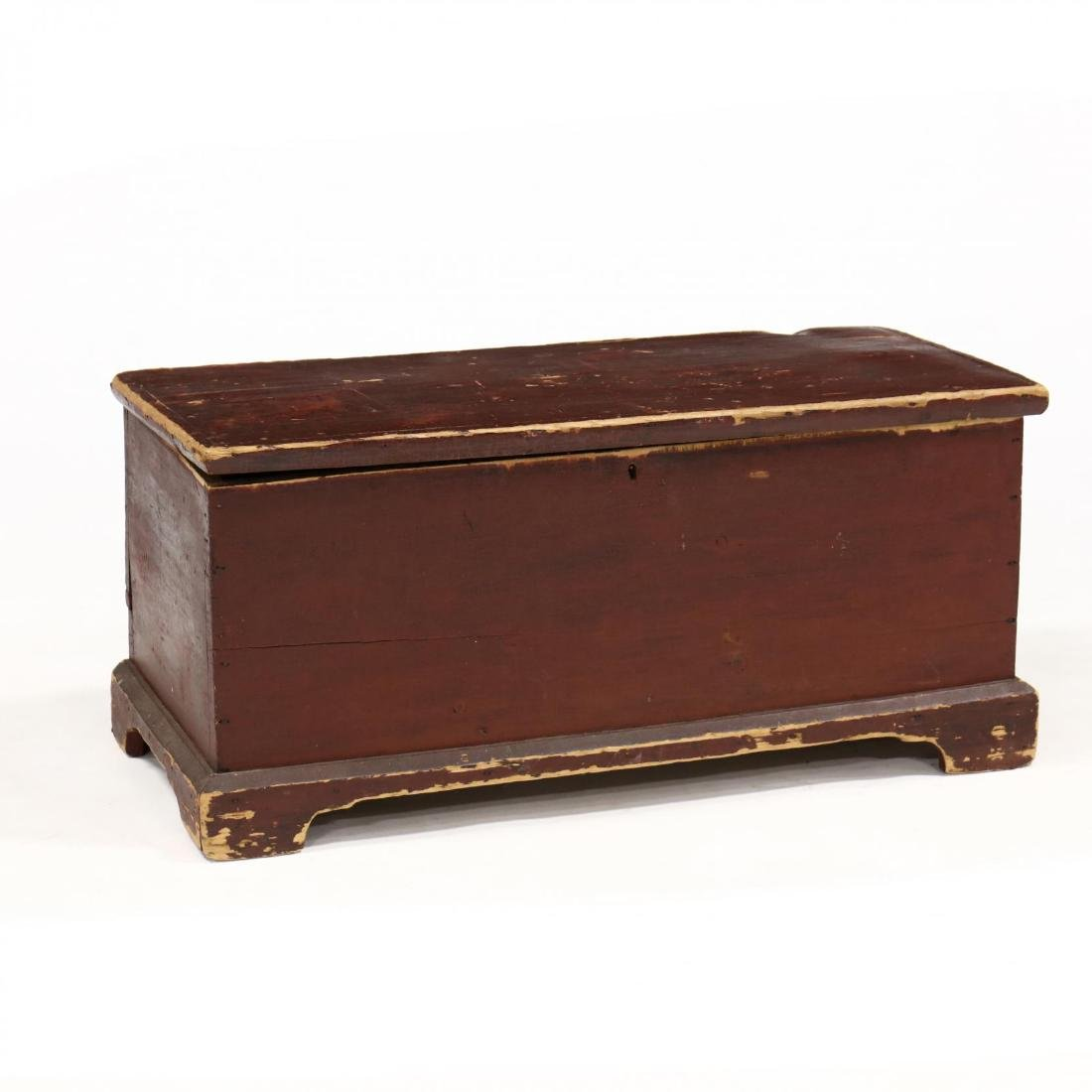 New England Painted Diminutive Blanket Chest