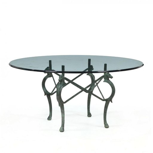 Cool Equestrian Theme Glass And Iron Dining Table Pabps2019 Chair Design Images Pabps2019Com