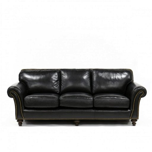 Tremendous Taylor King Custom Black Leather Sofa Creativecarmelina Interior Chair Design Creativecarmelinacom