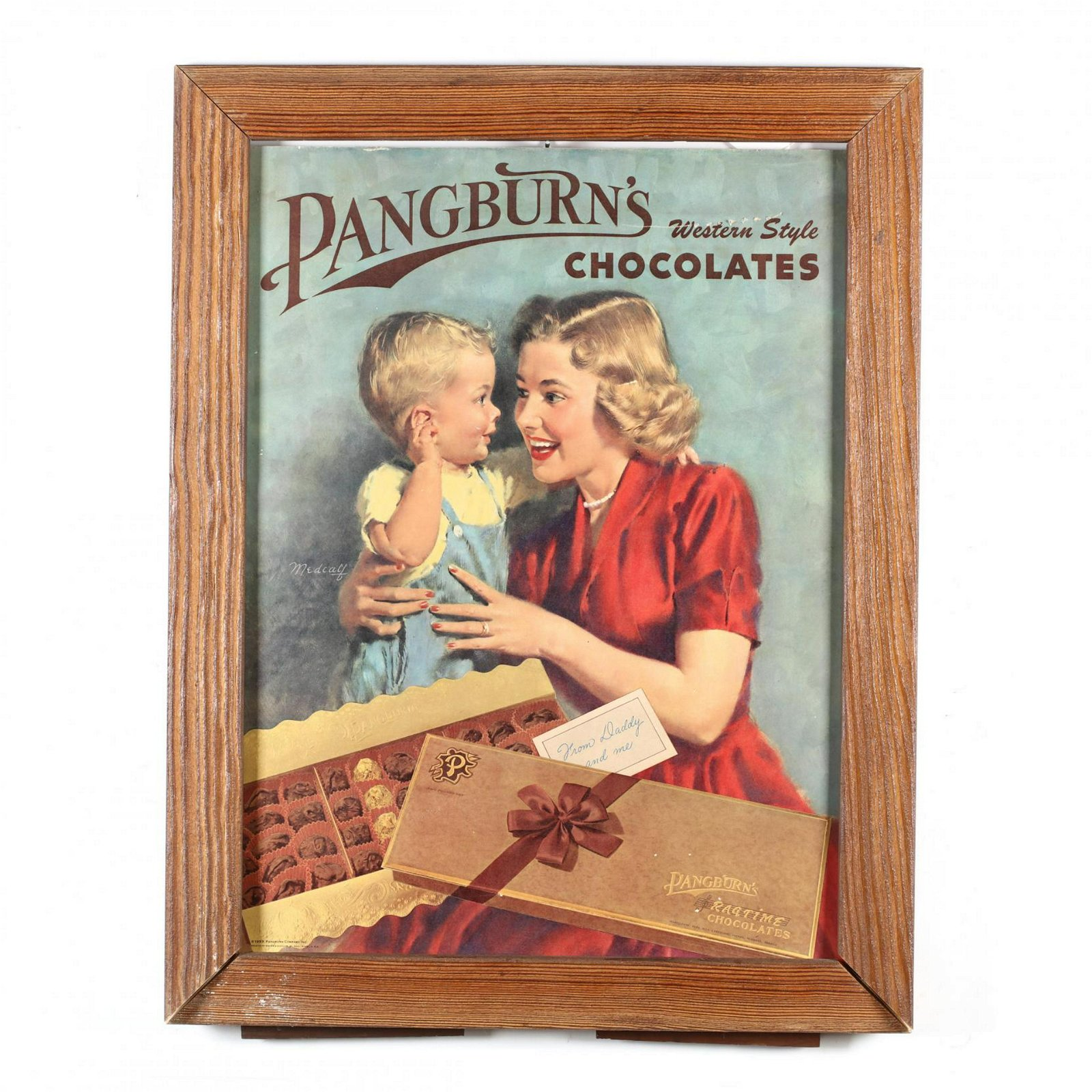 "Pangburn's Chocolates, ""Western Style"" Framed"