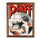Vintage Framed Pfaff Sewing Machine Sign