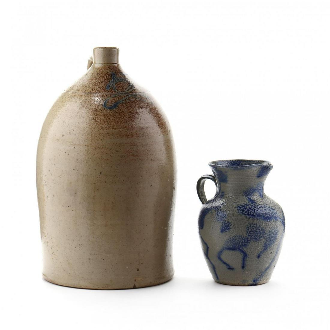 Two Salt Glazed Vessels