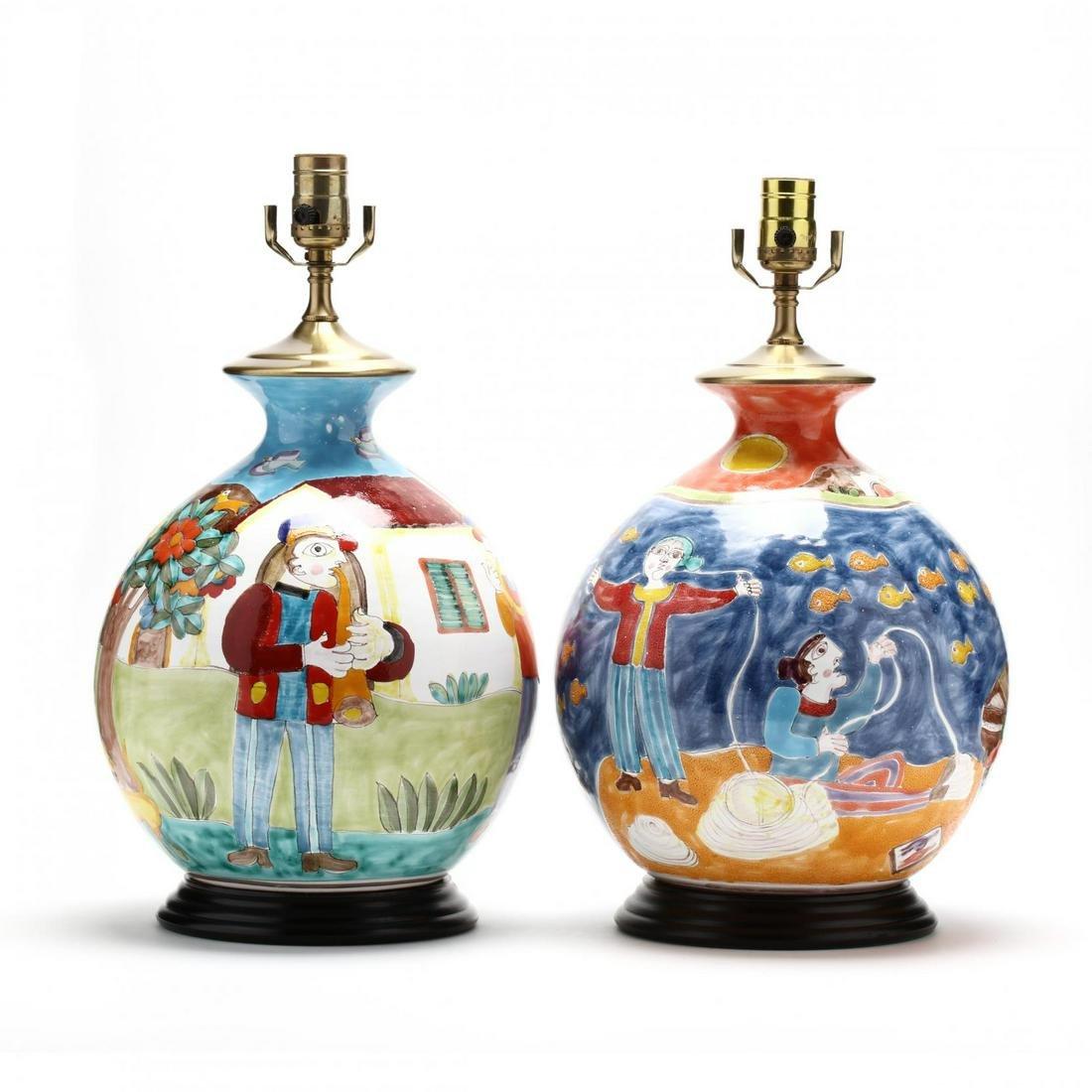 Giovanni DeSimone (Italy, 1930-1991), Pair of Decorated