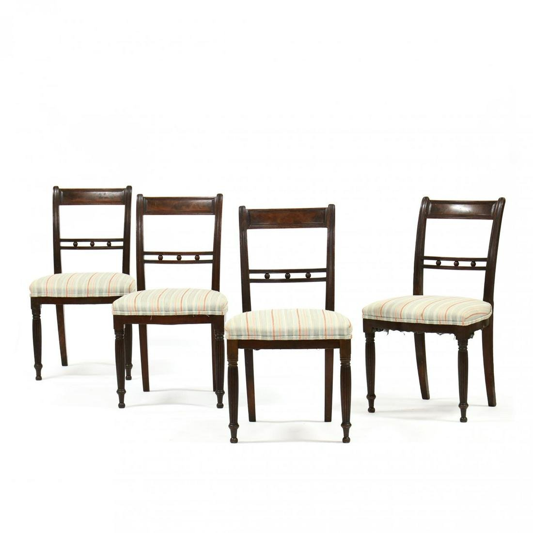 Set of Four Signed American Classical Mahogany Side