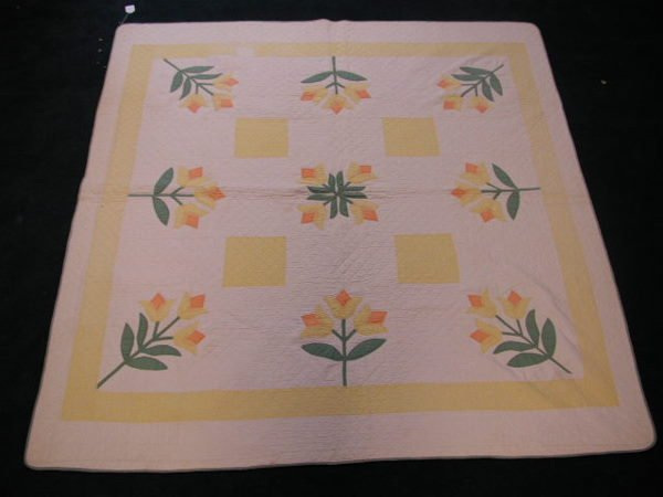 1009: Applique Hand Sewn Quilt, Early 20th c.,