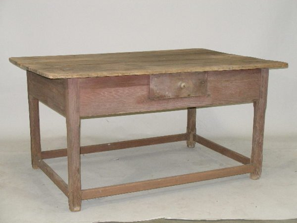 1021: Southern Stretcher Base Table, 19th c.,