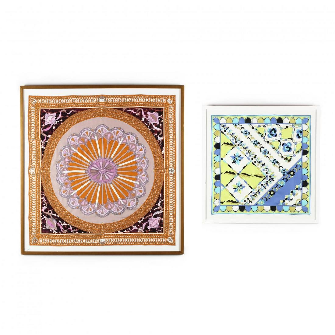 Two Framed Emilio Pucci Scarves